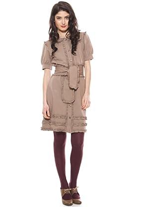 La Casita de Wendy Vestido Volantes (marrón)