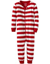 Hatley Baby Boys' Zip Up Coverall Candy Cane Stripes