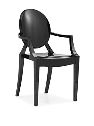 Zuo Set of 4 Anime Stacking Outdoor Dining Chairs (Black)