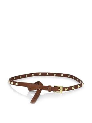 Gorjana Women's Pyramid Stud High Waist Belt (Cognac)
