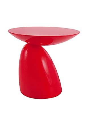 Manhattan Living Oval End/Side Table, Red