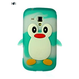 Dressmyphone Cute Silicon Penguin cover for Samsung Galaxy S Duos 2 S7582 (Design 3) - Multicolor