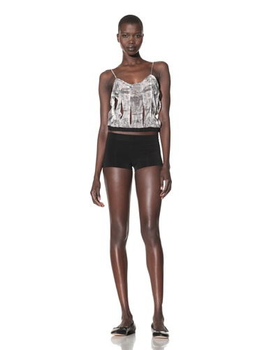 The Lake & the Stars Women's SuperStudious Camisole (Black/Ivory Print)