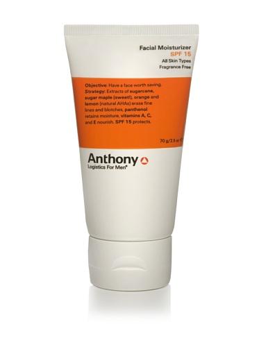 Anthony Logistics For Men Facial Moisturizer SPF 15, 2.5 oz