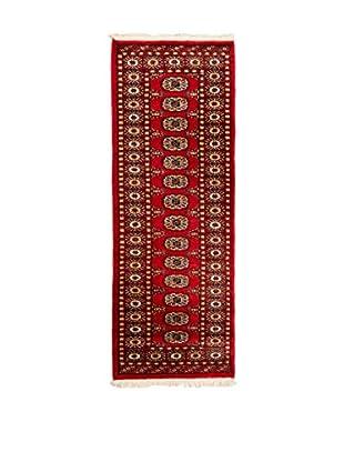 QURAMA Alfombra Kashmir Rojo/Multicolor 175 x 62 cm