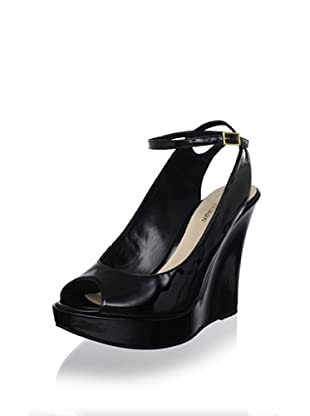 Delman Women's Gigi Wedge Pump (Black Patent)