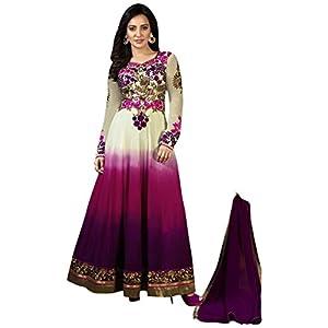 Neha Sharma In Purple Shaded Floor Length Anarkali Suit