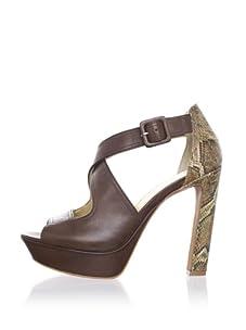 Luxury Rebel Women's Cassie Ankle-Strap Sandal (Light Brown)