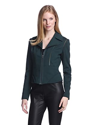 T Tahari Women's Macey Jacket (Evergreen)