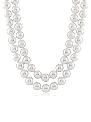 Majestik 12mm White Pearl Double Strand Necklace