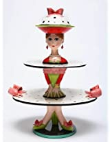 Appletree Design Dilly Dots Cake Stand, 18-1/4-Inch, Set of 3