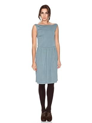 SIYU Vestido Básico Sin Mangas (Azul)
