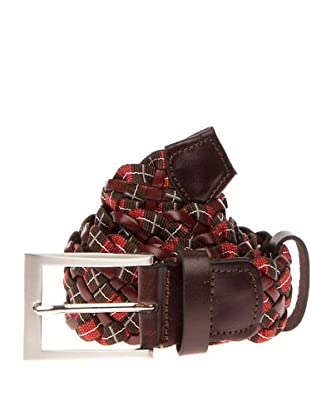 PEDRO DEL HIERRO Cinturón Trenzado (Verde / Rojo)
