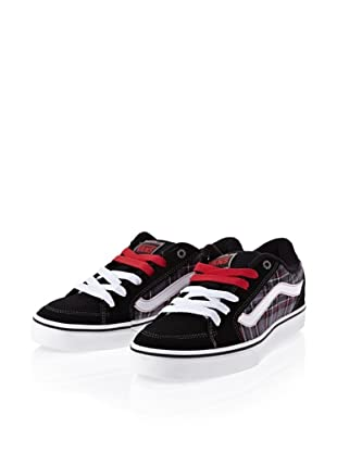 Vans Transistor VKXT54Q Herren Sneaker (Schwarz ((Flannel) black/red))