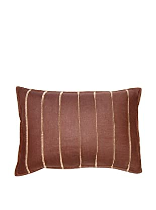 Square Feathers Brown Bands Boudoir Pillow