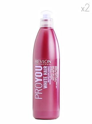 Revlon  Set 2 Pro You Champús Revitalizante Cabello Gris o Blanco 350  ml
