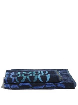 Ungaro Handtuch und Badetuch Ethno (Blau)