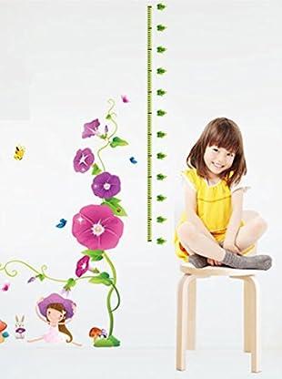 Ambiance Live Wandtattoo Purple flowers and mushrooms (Kidmeter) mehrfarbig
