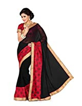 De Marca Black Silk G-326 Saree