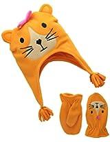 Accessories 22 Girl's 2-6X Lil' Fox Girl Fleece Critter Hat and Mitten Set