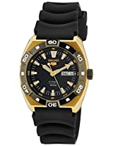 Seiko 5 Sports Black Dial Black Rubber Men's Watch (SRP288)