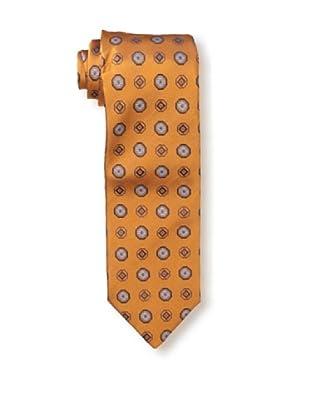 Massimo Bizzocchi Men's Medallion Tie, Orange