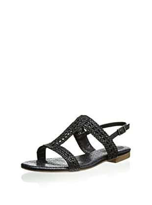 Rockport Women's Nahara H-Band Woven Sandal (Black)