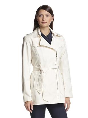 Vince Camuto Women's Zip-Up Trench Coat (Cream)