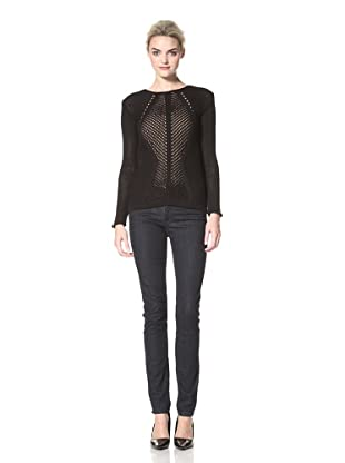 Dex Women's Crochet Sweater (Black)