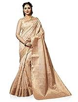 Meghdoot Artificial Tussar Silk Saree (SIYAA_MT1310_TASSAR Woven Beige Colour Sari)
