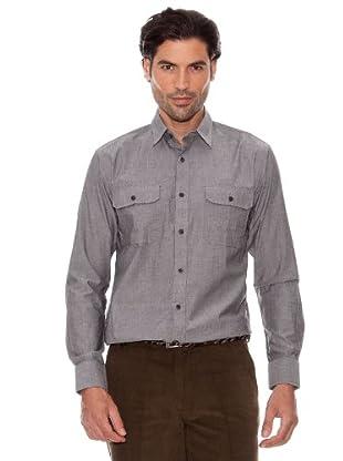 Pedro Del Hierro Camisa Doble Bolsillo (Gris Oscuro)