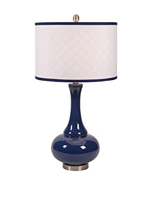 Essentials Glass Table Lamp, Marine Blue