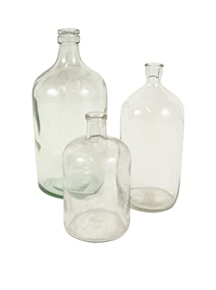 Set of 3 French Apothecary Jars, Clear