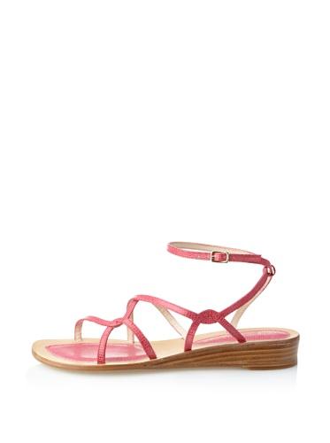 Rebecca Minkoff Women's Beach Babe Strappy Sandal (Electric Pink)