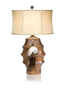 """Aqua Vista Moon River Table Lamp, Brown, 32"""""""