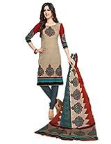 JAVULI pure cotton salwar suit dress material : komal-4666