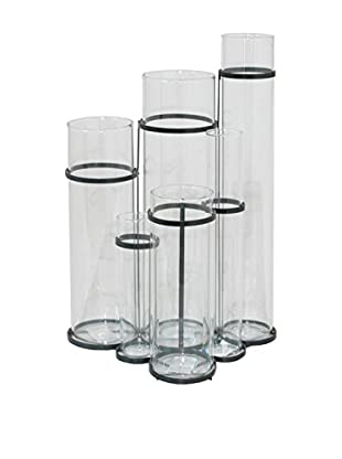 Three Hands 6-Piece Glass Cylinder Vase