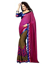 Riti Riwaz Georgette casual saree with unstitched blouse RSG487A