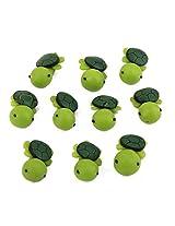 Generic 10pc Small Toys Dollhouse Bonsai Garden Landscape Flower Pot Sea Turtle Decor