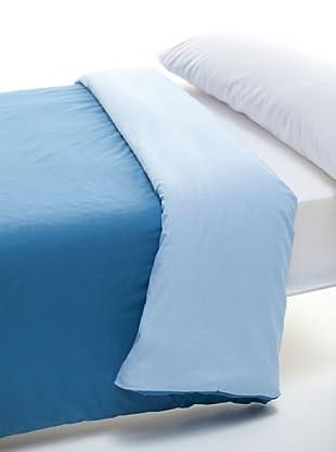 Abecé Funda Nórdica Bicolor (Azul Humo / Celeste)
