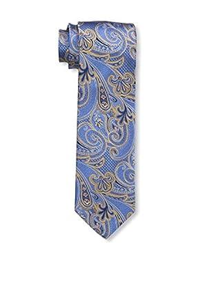 Bruno Piattelli Men's Paisley Silk Tie, Blue