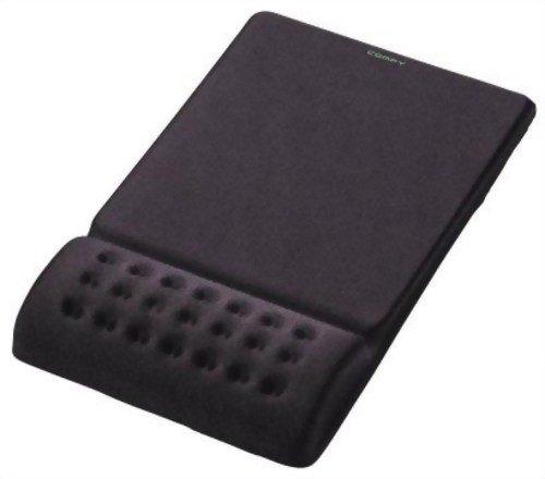 """エレコム 疲労軽減リストレスト一体型マウスパッド """"COMFY"""" ソフト(ブラック) MP-095BK"""