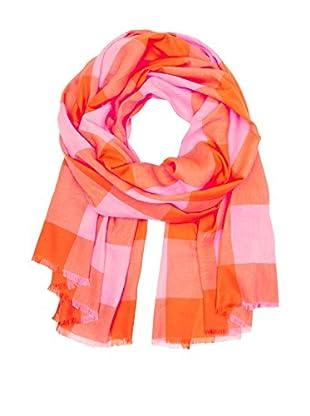 Marc by Marc Jacobs Sciarpa Leggera Woven Stacey Check Arancione/Rosa