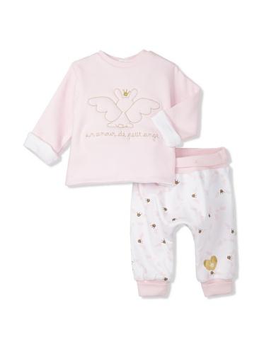 Berlingot Baby Reversible 2-Piece Set (Soft Pink)