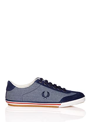 Fred Perry Deportiva Newington Chambray/Suede (Azul)