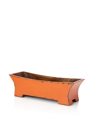 Antique Revival Decorative Planter Box (Orange)