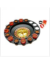 ROULETTE DRINKING CASINO GAME SPIN & SHOT - 16 SHOT GLASS BAR GAME SET