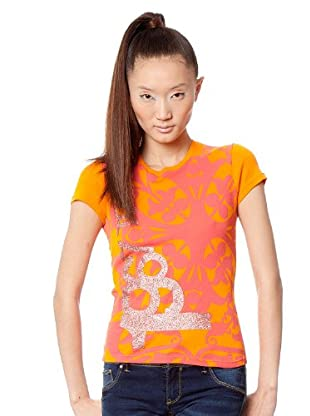 Custo Barcelona T-Shirt Den It (Orange/Gelb)