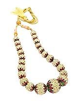 Pearls Cart Exotic Jaipur Balls Graded Mala (Meena Pearls) - Pcn1040