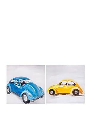 Set Lienzo 2 Uds. Car Amarillo/Azul
